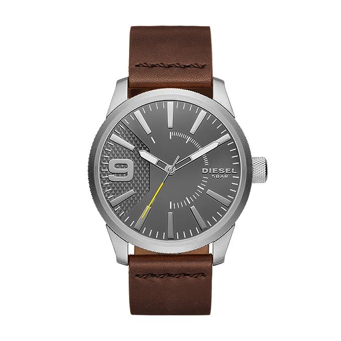 8368185d0e70 Diesel Reloj Analógico para Hombre de Cuarzo con Correa en Cuero DZ1802   Amazon.es  Relojes