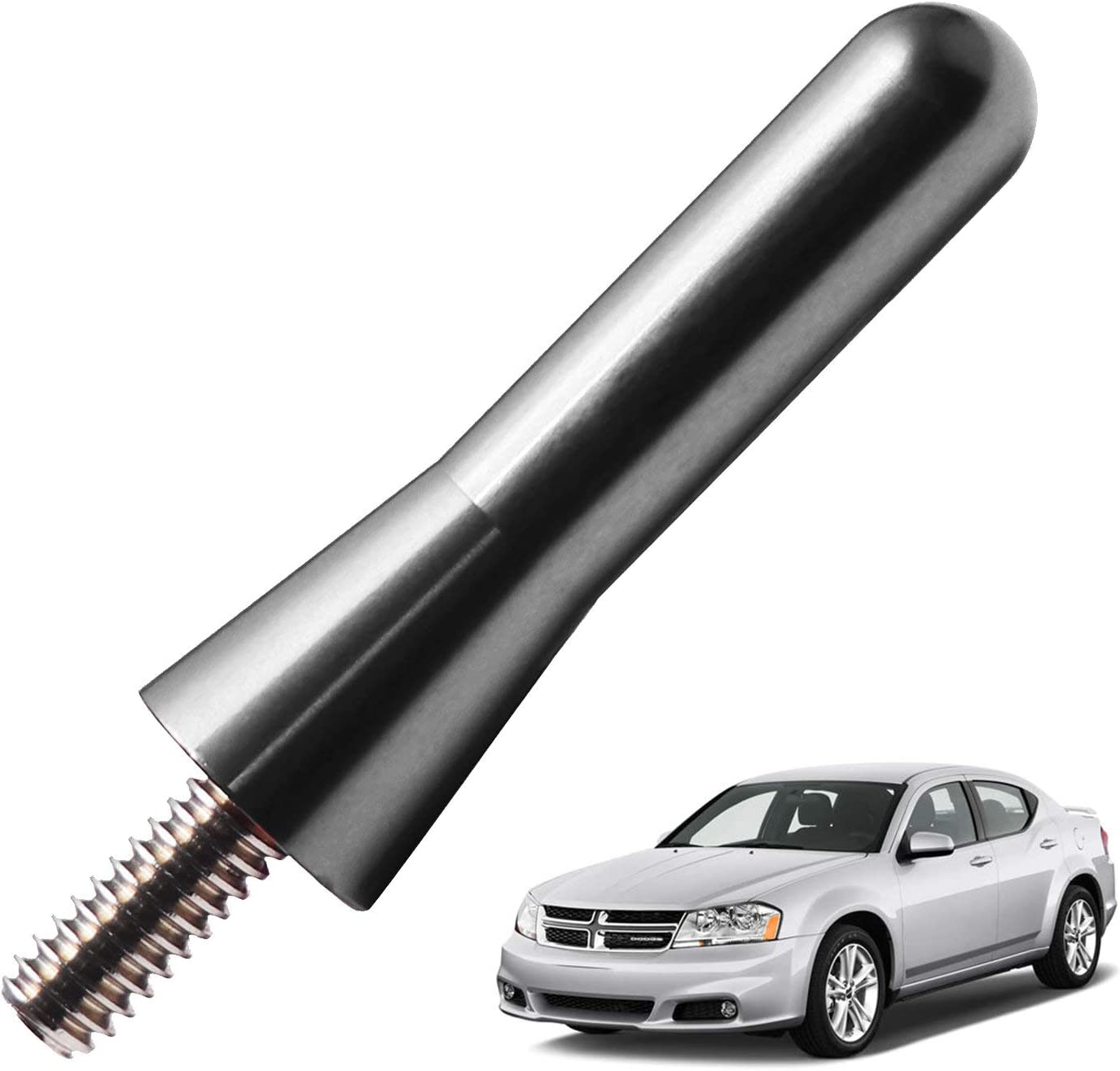 JAPower Replacement Antenna Compatible with BMW Z3 and Z4 1995-2016 2 inches-Titanium