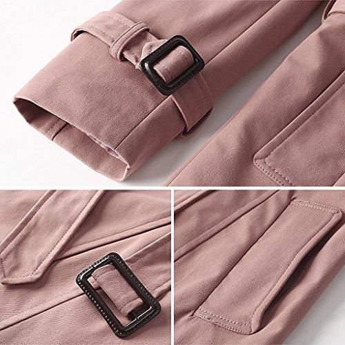 LI SHI XIANG SHOP Spring Autumn Dustcoat Women's Medium Length Coat (Color : C, Size : L) by LI SHI XIANG SHOP (Image #1)