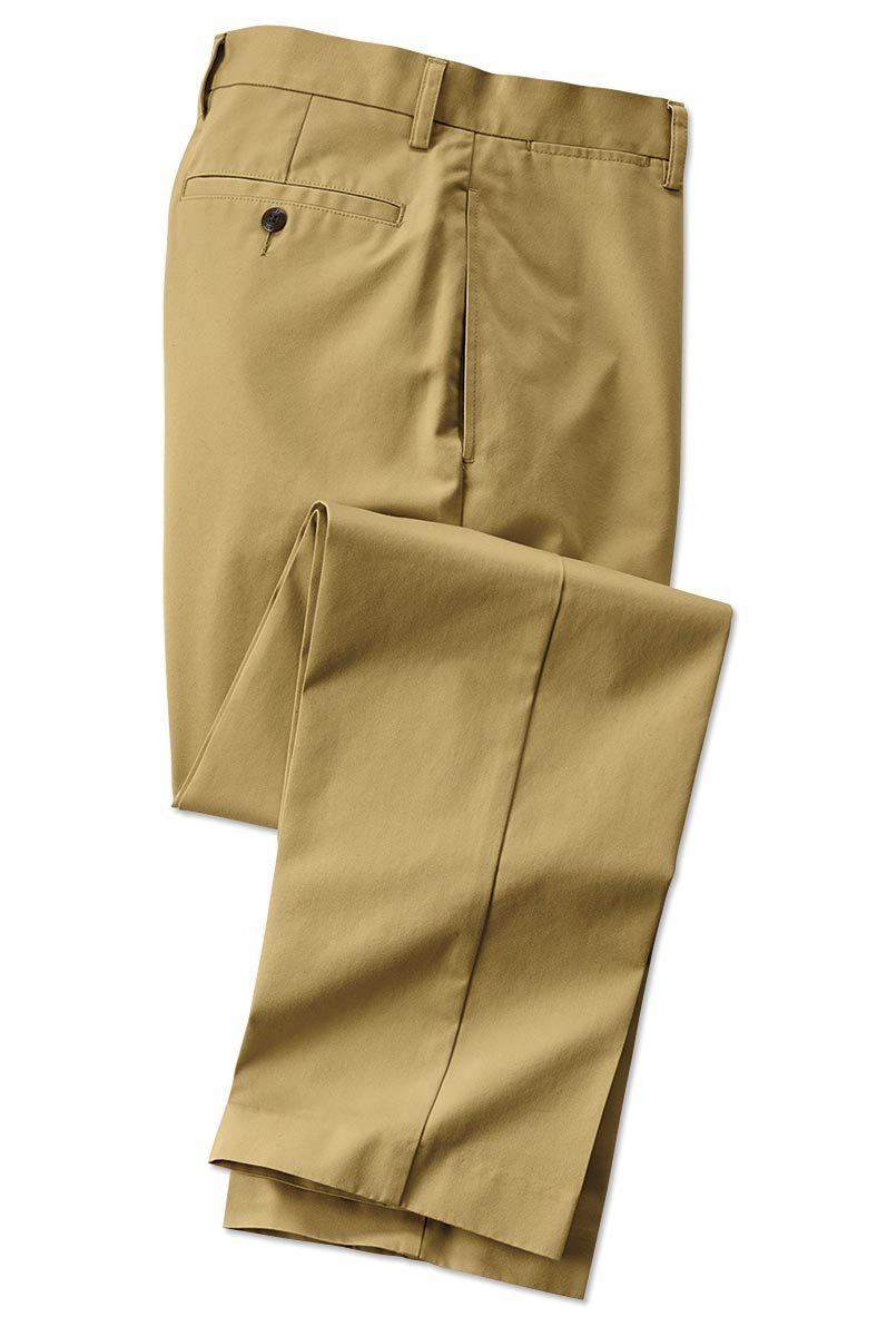 Orvis Wrinkle-Free Trim Fit Supima Twill Chinos, Tobacco, 33, Inseam: 30 Inch