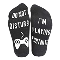Prettyui Do Not Disturb,I'm Gaming Funny Ankle Socks - Gamer Socks - Pefect Gamers Gift for Game Lovers - Christmas Birthday Halloween Present