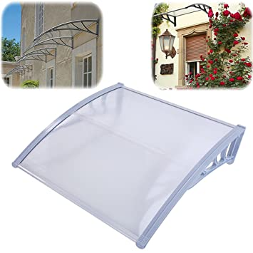 FCH 40u0026quot;X40u0026quot; Overhead Door Canopy Awning Cover Window Door Awning,Clear  Polycarbonate