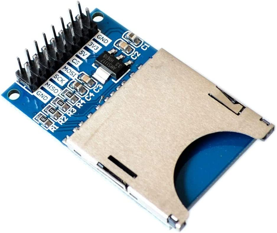VistorHies 5PCS//LOT SD Slot Socket SD Reader Module SD Card Module for Camera//MP3//MP4 //ARM Read and Write