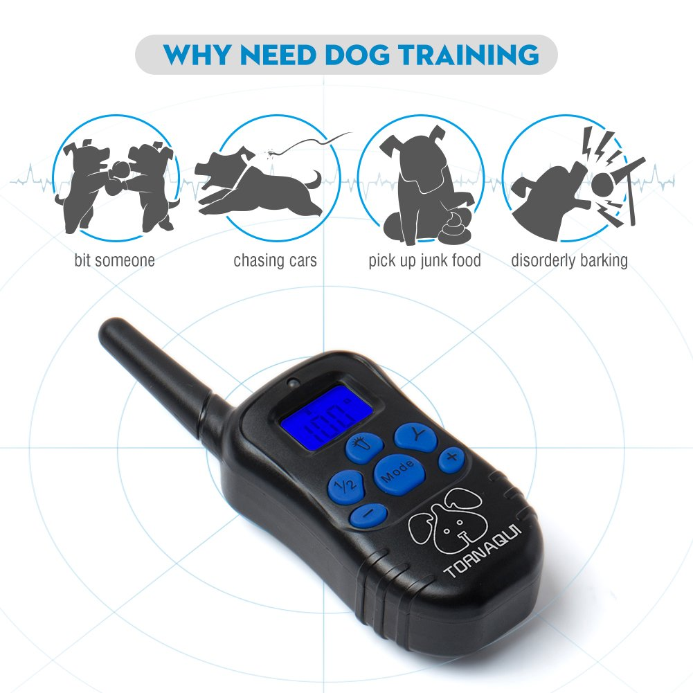 Tornaqui Dogs Shock Collar Training Anti-Bark Collar With Remote Rechargeable Beep Vibration Static Pets by Tornaqui (Image #4)