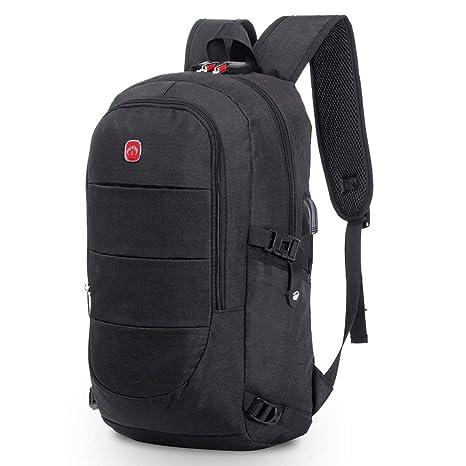 BestoU Mochila para portatil Hombre 15.6 Pulgadas Mochilas antirobo Impermeable Casual USB Laptop Backpack para Senderismo