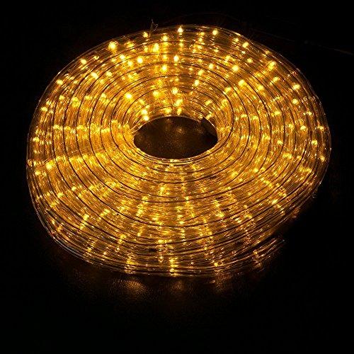 Wyzworks 50 ft orange amber pre assembled led rope lights 2 wire wyzworks 50 ft orange aloadofball Images