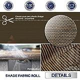 Windscreen4less Brown Sunblock Shade Cloth,95% UV