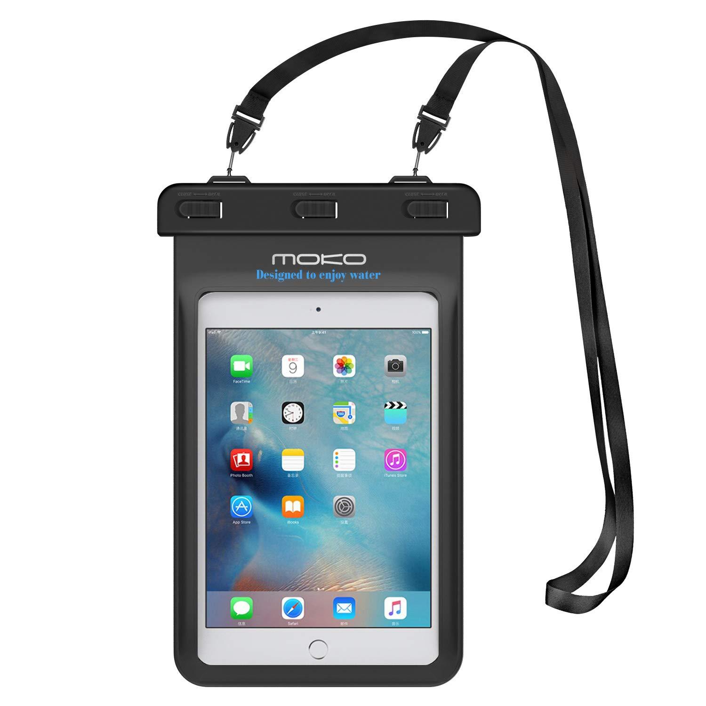 MoKo Funda Impermeable - Funda Bolsa impermeable IPX8 Para iPad pro 10,5 iPad 9,7 2017/2018 iPad Mini 4 3 2 1/G Pad 7.0/8.0/8.3/Samsung Tab 5/4/3, y Tableta 8.4 Pulgadas - IPX8 Certificado, Azul WPC-LYL-140823B-blu-mA