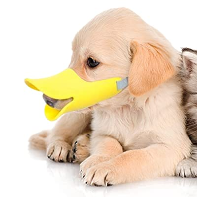 Pawliss Dog Mouth Cover Duck Mouth Shape Anti-bite Muzzle