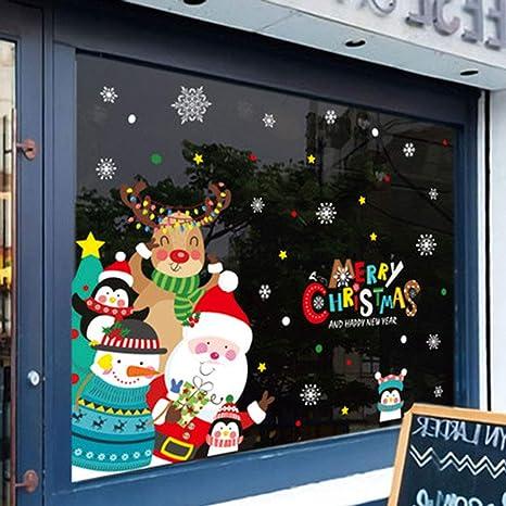YBZS Pegatinas De Navidad para Ventana, 2019 Decoración De