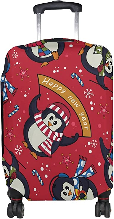 Suitcase Cover New Year Luggage Cover Travel Case Bag Protector for Kid Girls
