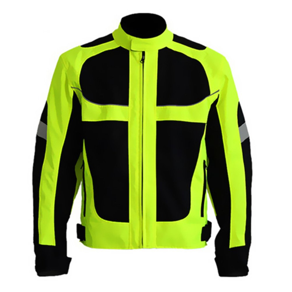 Men's Summer Motorcycle Jacket Racing Protective Gear Safety Clothing (XL(Chest:44.5''))