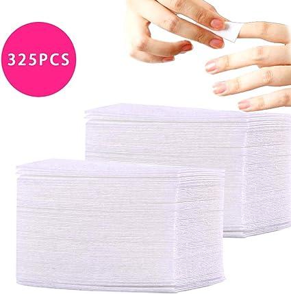 325Pcs / paquete de gel quitaesmalte de uñas Lint libre Toallitas ...