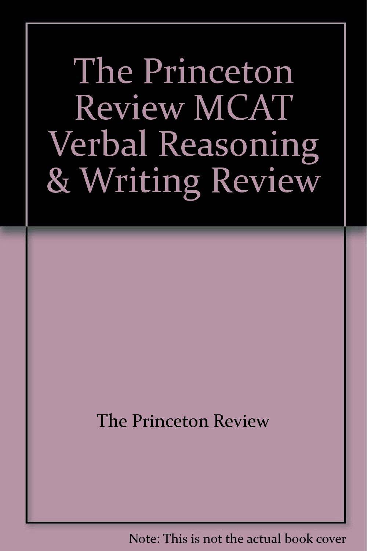 The Princeton Review MCAT Verbal Reasoning & Writing Review PDF