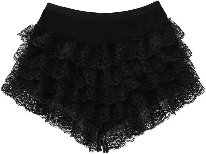 iiniim Women Shorts Half Slips Ladies Under Skirt Dresses Lace Modal Bloomer Pettipants