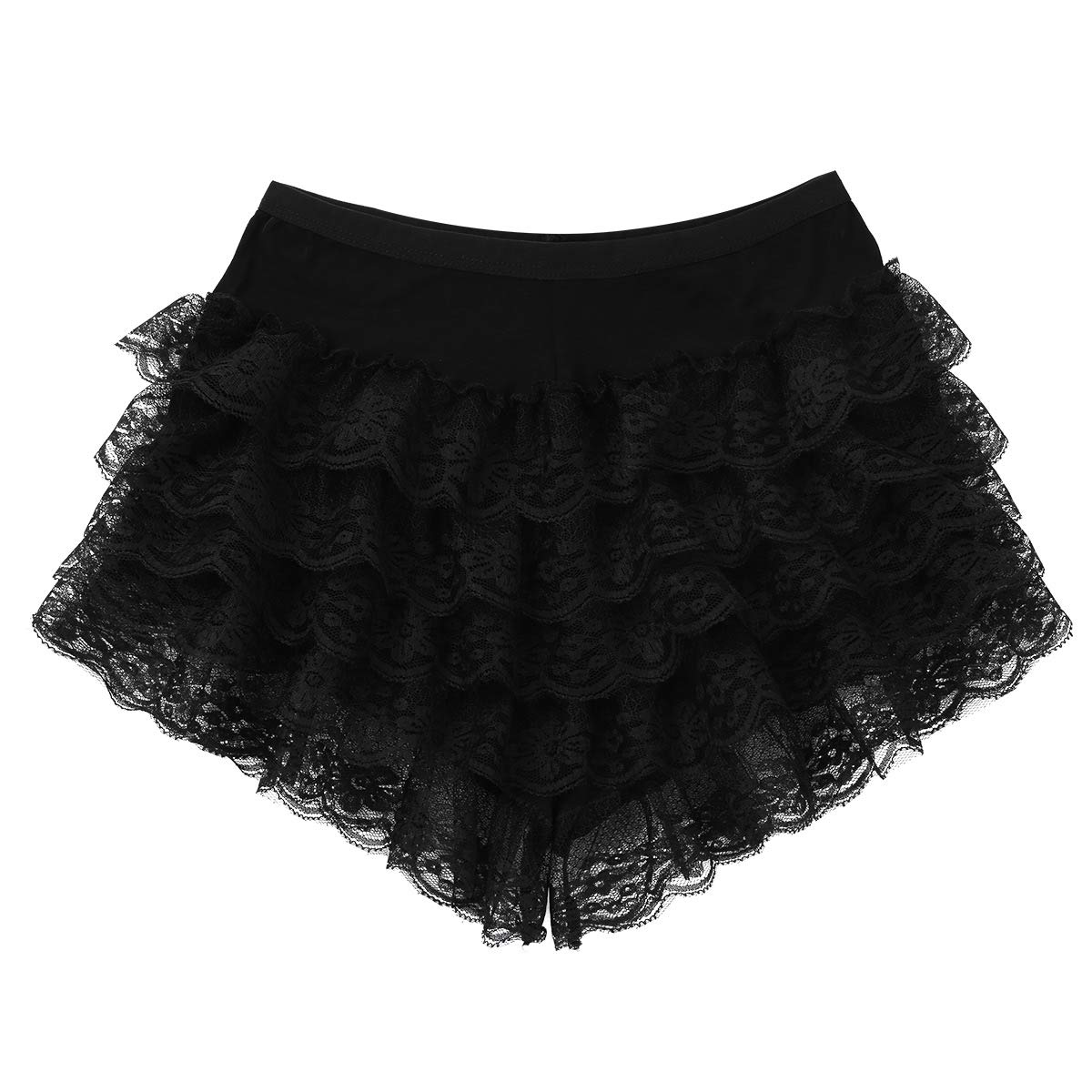 YiZYiF Femme Dentelle Short Bloomer Bermuda Short de S/écurit/é Culotte sous-v/êtement Volants Bas de Pyjama Court Legging Et/é Underwear