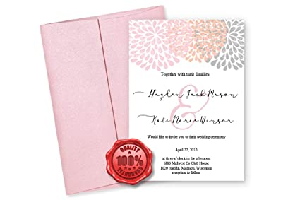 amazon com metallic wedding envelopes special invitation