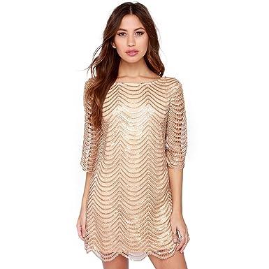 Kleid mit pailletten kurzen