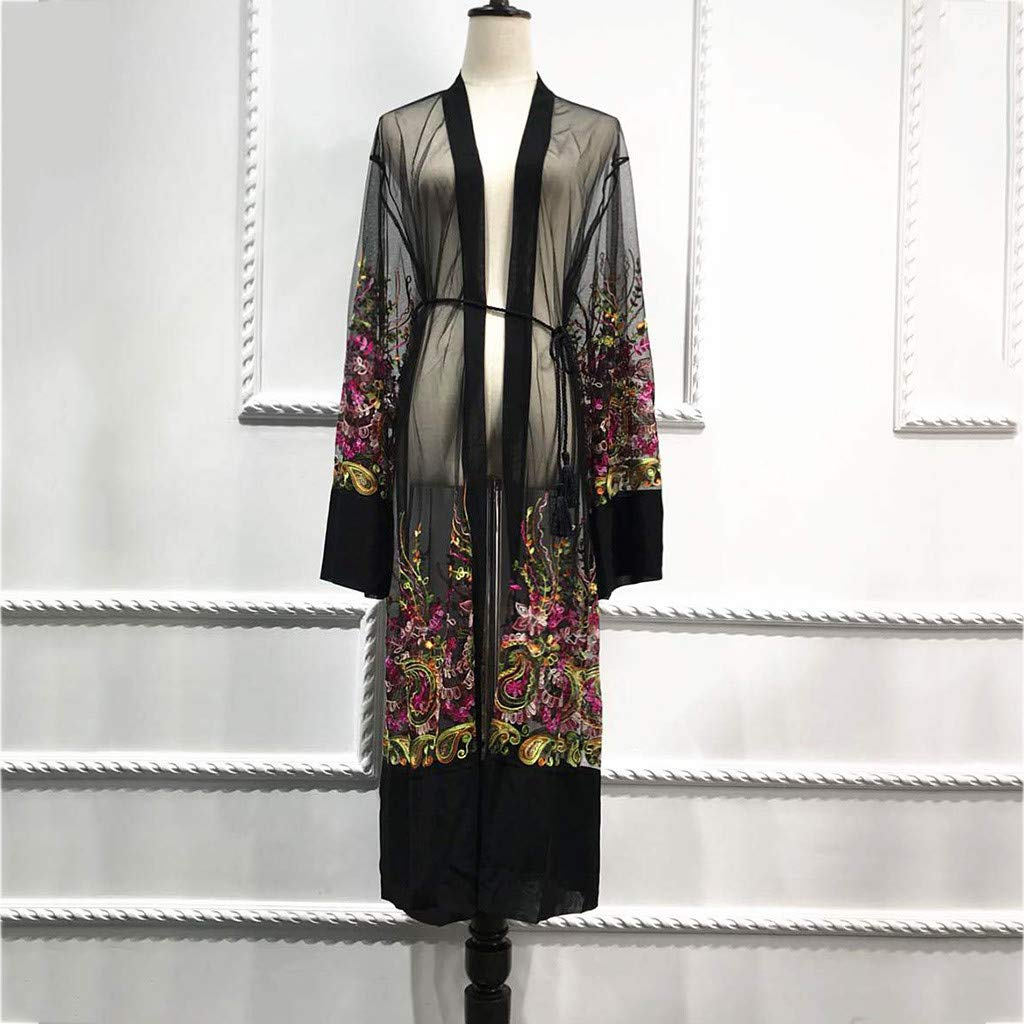 Geetobby Kaftan for Women Long Sleeve Maxi Dress Formal Gown Evening Dress