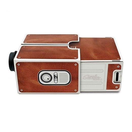 Elenxs DIY Mini Versión 2.0 Cartón portátil proyector Teléfono del ...