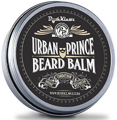 Urban Prince Beard Balm Leave in Conditioner Beard Butter Moisturizer Premium Refreshing Scent 2 oz - Best Leave in Conditioner Scented Beard Balm Gift Bearded Men