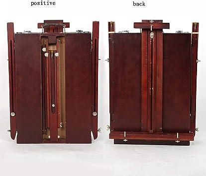 BAI Niños Caballete Caballete de aceite plegable de madera sólida Pintar la caja de pintura Caballete de aceite móvil portátil Bosquejo Dibujo Marco de dibujo 40 * 56Cm Bloc de dibujo: Amazon.es: