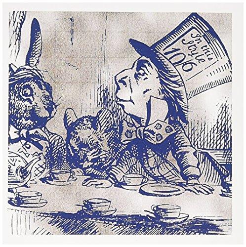 (3dRose Set of 12 Greeting Cards, Mad Hatter Vintage Alice in Wonderland Tea Party (gc_110204_2))