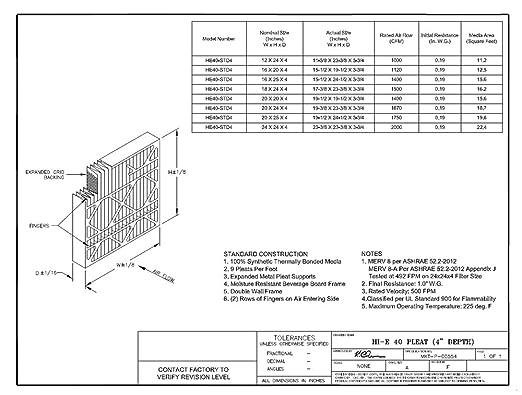 Pack of 2 Pack of 2 Sterling Seal FI-6301D-SP1x2 Purolator Hi-E 40 Extended Surface Pleated Air Filter 16 Width x 30 Height x 1 Diameter Mechanical MERV 8 16 Width x 30 Height x 1 Diameter