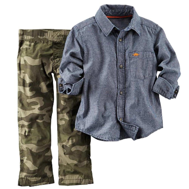 Amazon Carters Infant Boys 2 Piece Outfit Green Camo Pants