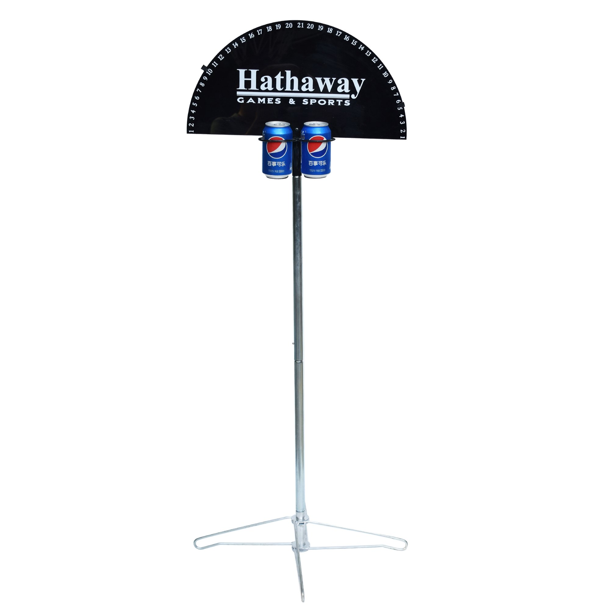Hathaway Quickscore Outdoor Game Scorer for Yard Games, Black, 21'' L x 21'' W x 47'' H