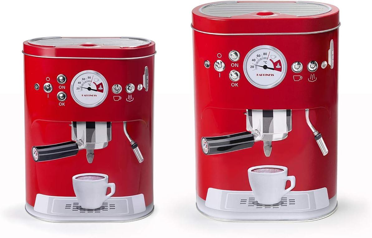 IBILI 812519 - Bote para cápsulas de café y Galletas, 19 cm ...