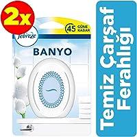 Febreze Hava Ferahlatıcı 2x300 ml (600 ml) Banyo Oda Kokusu Temiz Çarşaf Ferahlığı