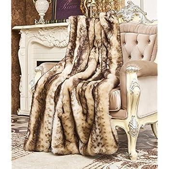 Amazon Com Best Home Fashion Faux Fur Throw Lounge
