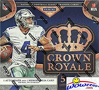 31f32716e 2016 Panini Crown Royale NFL Football EXCLUSIVE Factory Sealed Retail Box  with TWO(2)