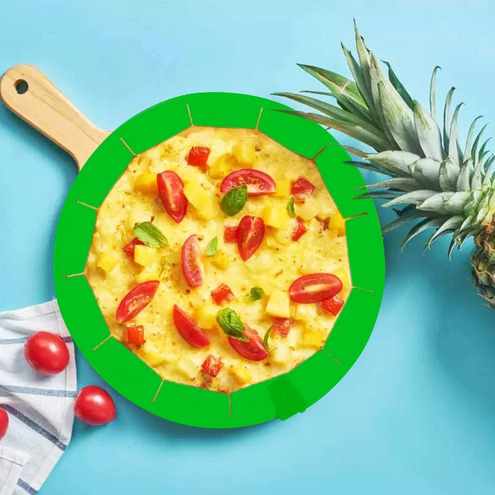 Red, Blue,Green maxin Adjustable Silicone Pie Crust Shield,3 Pcs Adjustable Silicone Crust Protection Shield Kitchen Tool for Baking Pie Pizza Fit 8.5 to 12 Inch Diameter Pies