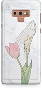Covery Cases Marble Back Cover For Samsung Note 9 - White