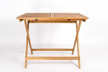 Gartentisch holz massiv  Amazon.de: SAM Akazien-Holz Massiv Gartentisch 80x60 cm, Blossom ...