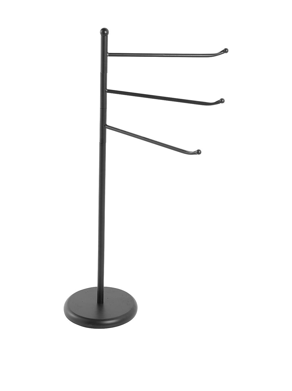 21x85x34 cm FERIDRAS Siena Piantana Portasciugamani con 3 Bracci Ferro Nero Canna di Fucile