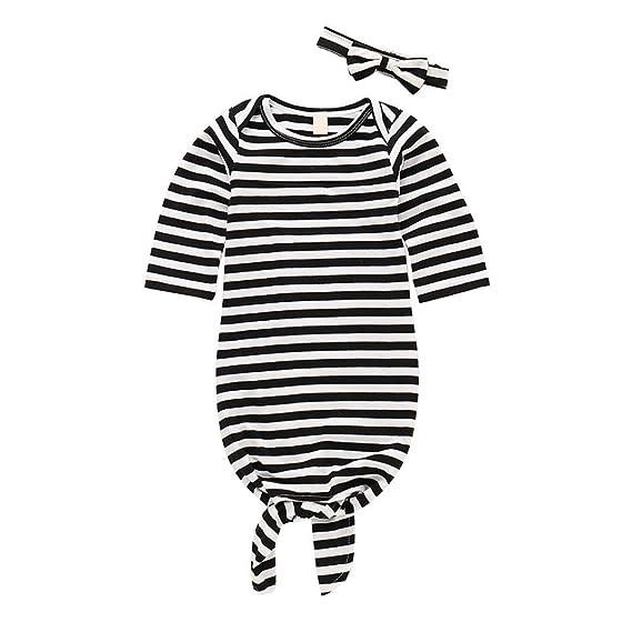 ❀ Conjuntos Bebe Otoño Invierno, ✧ Zolimx Recién Nacido Pijamas de Manga Larga a Rayas de Dormir Swaddle Wrap Ropa Conjuntos: Amazon.es: Ropa y accesorios