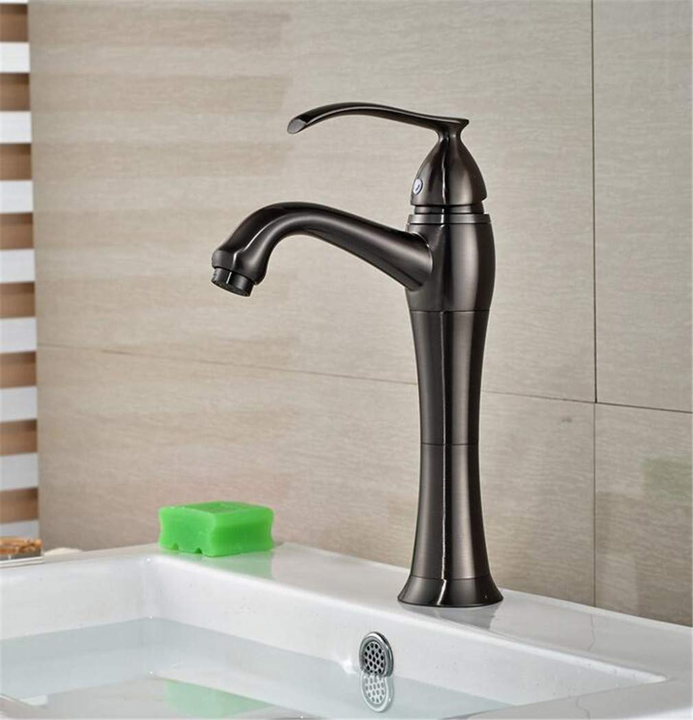 360 redation Bathroom Vessel Sink Faucet Single Handle Hole Washbasin Mixer Taps with Hot and Cold Water