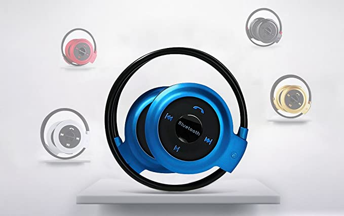 RONSHIN Wireless Bluetooth Headphones FM Radio Sport Music Stereo Earpics Micro SD Card Slot Headset Black