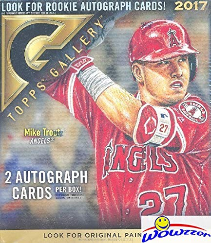 (2017 Topps Gallery Baseball HUGE Factory Sealed 20 Pack HOBBY Box with (2) AUTOGRAPHS! Look for Autos of Aaron Judge, Mike Trout, Sandy Koufax, Hank Aaron, Ken Griffey & Many More! WOWZZER!)