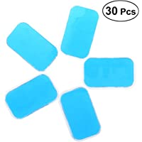 Healifty 30PCS Abs Replacement Pads Abdominal Toning Belt Replacement Gel Sheet EMS Muscle Stimulator Ab Trainer Accessories (Blue)