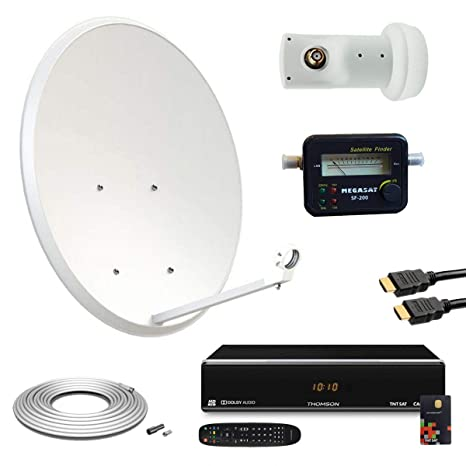 Promo Kit Antena Parabólica 60 cm + receptor Satellite ...