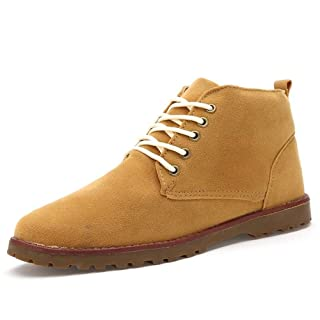Douhuayu Men's Classic Original Suede Leather Desert Storm Chukka Boots
