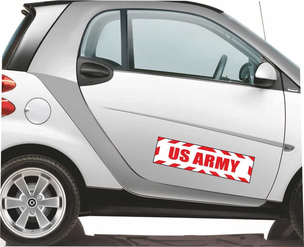 Indigos Ug Magnetschild Us Army Mit Rahmen 30 X 8 Cm Reflektierend Magnetfolie Für Auto Lkw Truck Baustelle Firma Auto