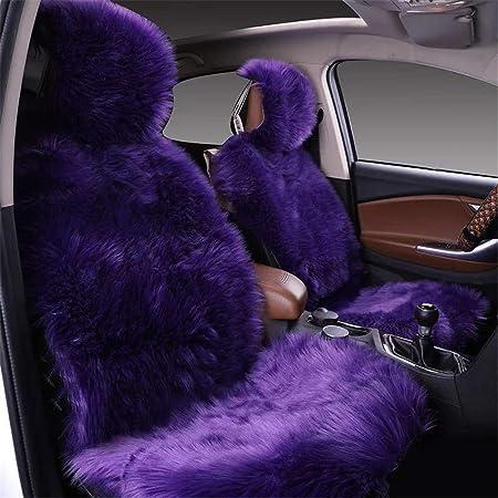 Martin Kench Lammfellbezug Auto Sitzbezug Lammfell Vordersitzbezug Wolle Schaffell Autositzbezug Sitzauflage Violett Auto