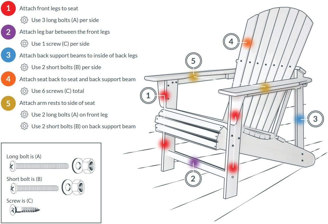 Navy Adirondack Chair by Royale Muskoka Extra Wide seat Heavy 21 ...