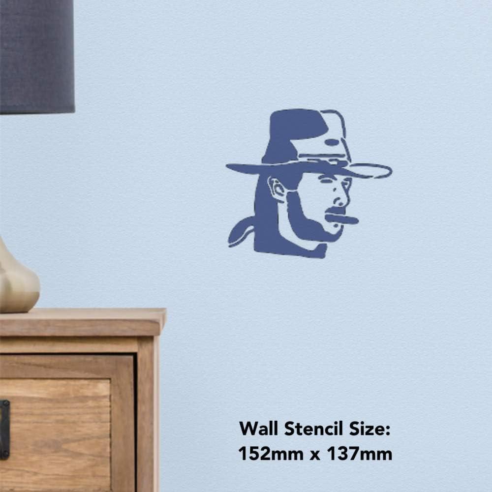 Template A5 /'Grumpy Cowboy/' Wall Stencil WS00031908