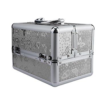 5cc9660c6be441 Amazon.com: Cosmetic Bag, Hometom Aluminium Beauty Box Cosmetic Make ...